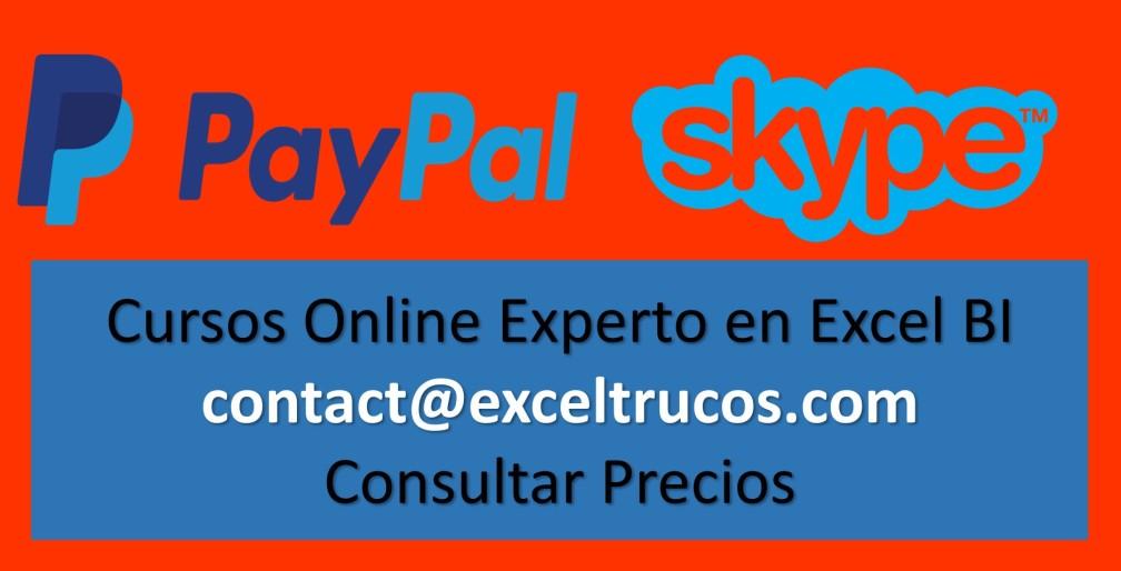 Cursos Excel Skype