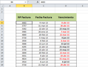 FuncionHOY Formato condicional