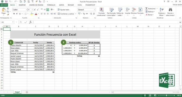 Función Frecuencia Excel Ayuda