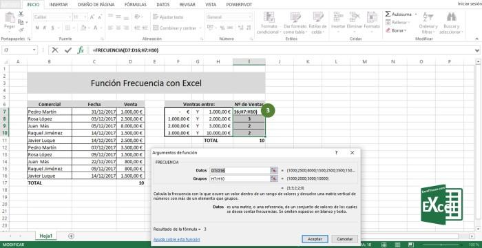 Función Frecuencia Excel Trucos