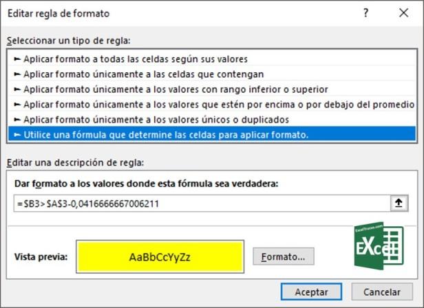 Control Tiempo Entrega Excel Formato Condicional