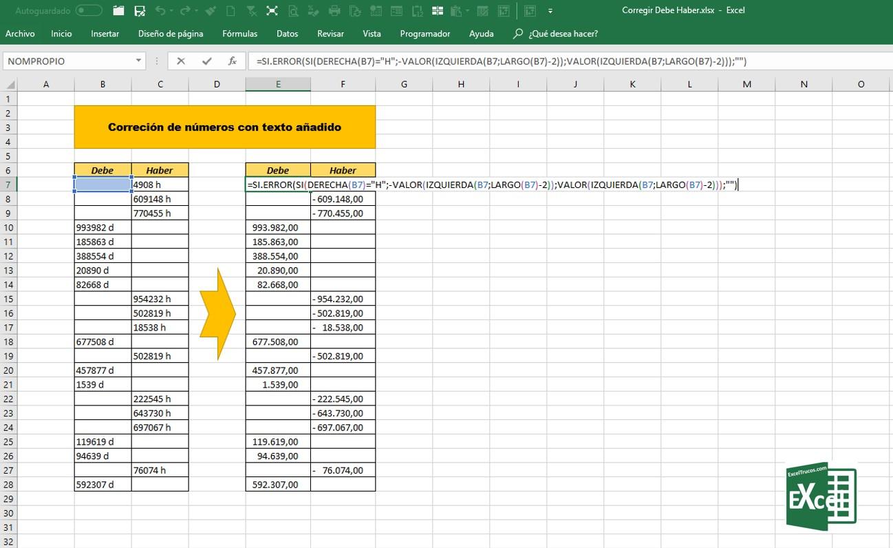 Aprende Funciones anidadas en Excel para corregir el saldo del ...