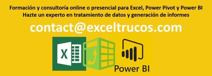 Excel Trucos consultoría power bi excel empresas