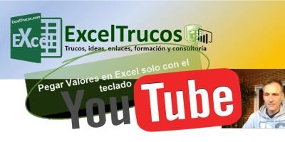 Pegar Valores en Excel con el teclado Excel Ayuda
